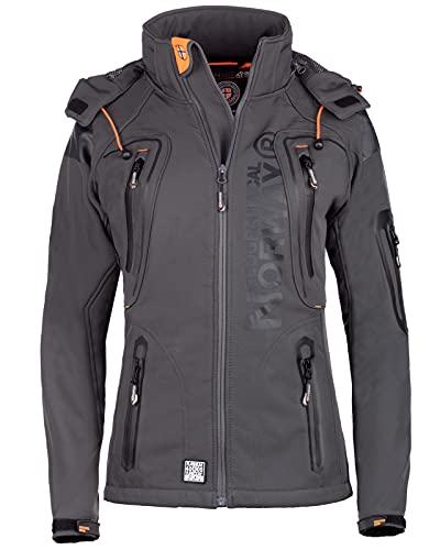 Geographical Norway - Chaqueta softshell para mujer Gris oscuro. S