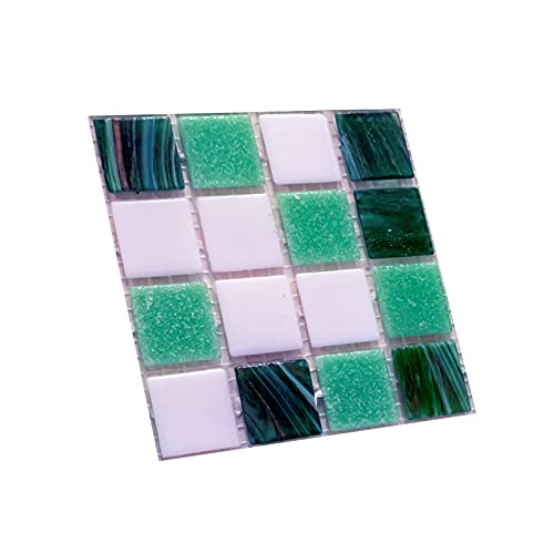 Calcomanía de pared, 10 unids/set impermeable etiqueta adhesiva de azulejos fuerte adhesivo PVC 3D DIY autoadhesivo para el hogar - G