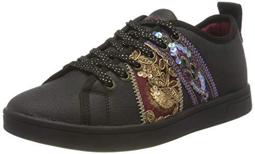 Desigual Damen Shoes_Cosmic_Ribbons Sneaker, Black, 37 EU