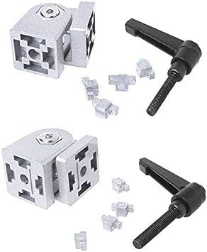 Zinc Alloy Flexible Hinge with Handle Die Cast Pivot Joint Connector for Aluminum Extrusion Profile - (Color: 4040)