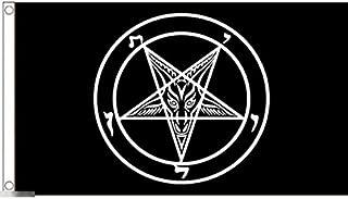 国旗 サタン サタニズム サタニック 悪魔崇拝 悪魔主義 特大フラッグ【ノーブランド品】