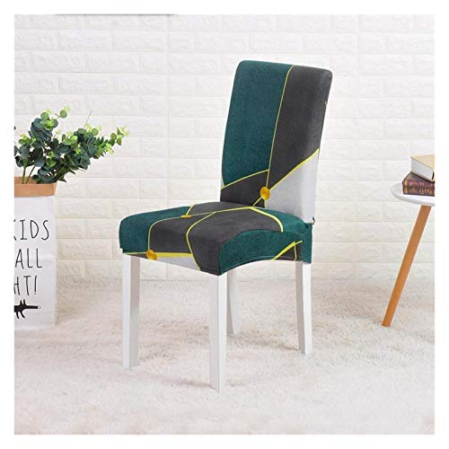 Stuhlbezug Geometrische Spandex-Stuhlabdeckung Stretch-elastische Sliftbezüge Stuhlsitzbezüge für Esszimmer Kitchen Hochzeit Banketthotel Polyestermaterial ( Color : Color 6 , Specification : 6PCS )