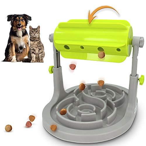 Alsanda Interaktives Hundespielzeug Katzenspielzeug Mit Anti Schling Hundenapf 2in1 für Hund und Katze Welpenspielzeug Intelligenzspielzeug für kleine und große Hunde