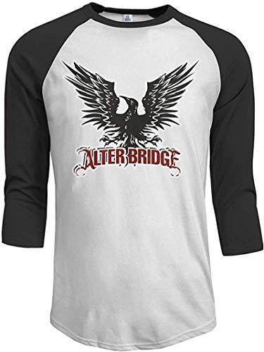 OMGAR Alter Bridge Logo - Camiseta de béisbol de manga 3/4 raglán para hombre, ajuste regular