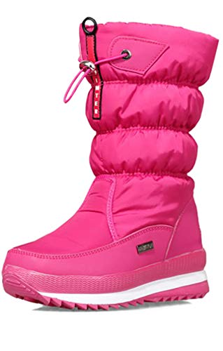 Solshine Damen Halbschaft Gefütterte wasserdichte Schneestiefel 949 Pink 38EU