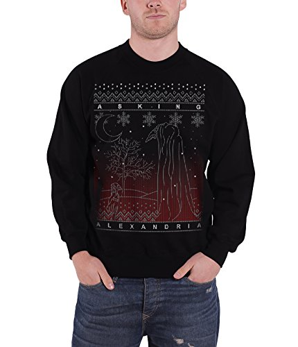 Asking Alexandria Christmas Jumper Sweatshirt The Schwarz Forest offiziell