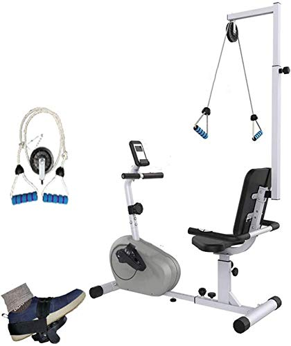 Bicicleta de ejercicios reclinada con resistencia ajustable, Ejercitador motorizado de pedal para piernas y brazos, Equipo de rehabilitación de brazadas E superior e inferior (deporte de interior)