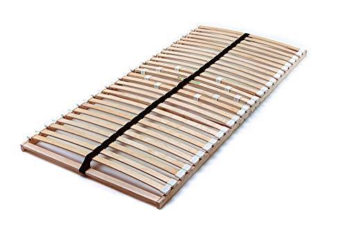 Naturamio Premium-Lattenrost 100 cm x 200 cm – zur Selbstmontage – NV Hochwertiger Lattenrost aus 28 massiven Birkenholz-Federleisten – Top-Qualität zum günstigen Preis