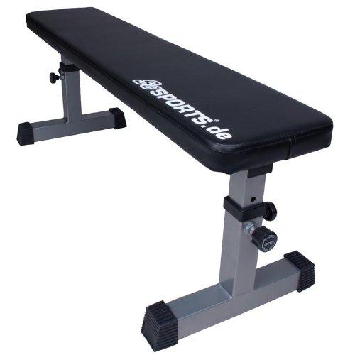 ScSPORTS Hantelbank, Trainingsbank, Flachbank höhenverstellbar - ideal für´s Home-Gym