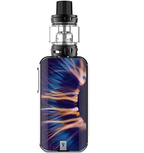 Original Vaporesso Luxe-S Kit, E Zigarette Starter Kit 220W Akku Einstellbare Vape Box Mod, Verdampfer Kopf SKRR Tank 8ml, 0.18 Ohm Verdampferköpfe-Ohne Nikotin Ohne Tabak(Iris)