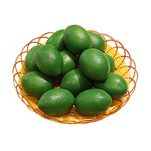 GOUPPER 10 Pack Kunstmatige Nep Citroenen Limes Fruit voor Vaas Filler Thuis Keuken Party Decoratie, Geel