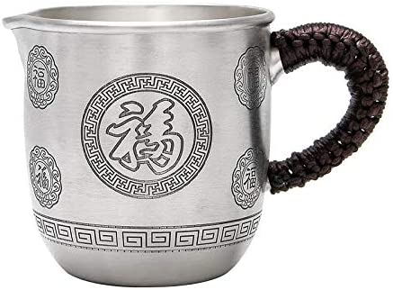 Sterling Silver Popular brand 999 Fair Cup Hom Hand-carved Wufu Sale price Retro