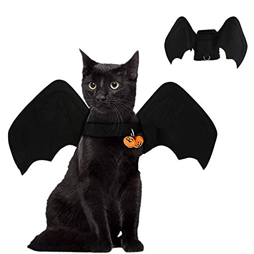 H-LML Pet Costume Cat Cosplay and Kitten with Bat Wings are The Best Gifts for Black Halloween Christmas Birthday Best Cosplay Party Weekend Party,1