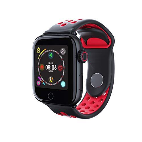 MeterMall Z7 sport Smart Watch Mannen Vrouwen Fitness Tracker band Hartslagmeter Smart Armband IP68 Waterdichte Bloeddruk smartwatch Zwart rood