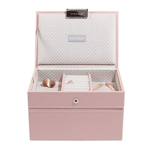 Stackers Soft Pink Mini Jewellery Box - Set of 2