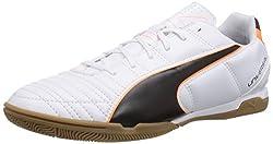 Puma Men's Universal II IT Indoor Shoes, White (white-black-fluo flash orange 02), 39 EU