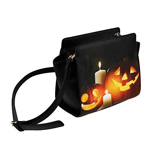 Rtosd Umhängetaschen Frauen Halloween Geschnitzte Kürbis Kerze Umhängetasche Umhängetaschen Reisetaschen Seesack Umhängetaschen Gepäck Für Dame Mädchen Frauen Reisetaschen Für Mädchen