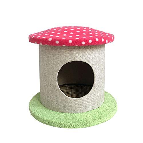GAONAN Pequeño Gato Torre, condominio, Gatito Play Casa Gatito Gatos pequeños Escalada Jugando Parque Infantil para Gatos (Color : Pink)