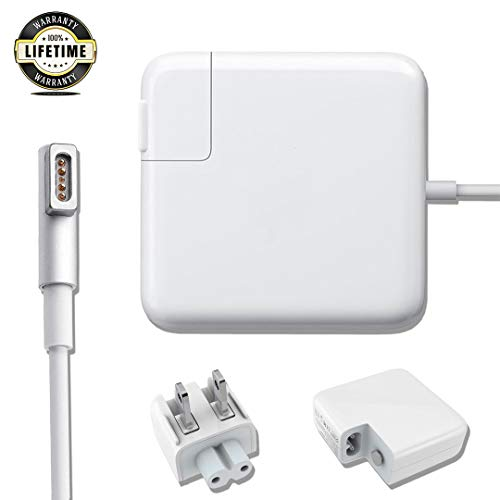Mac Book Pro Charger, AC 60w Magsafe 1 Power Adapter Magnetic L-Tip Connector Charger for Mac Book Pro 13-inch(Before Mid 2012 Models) …