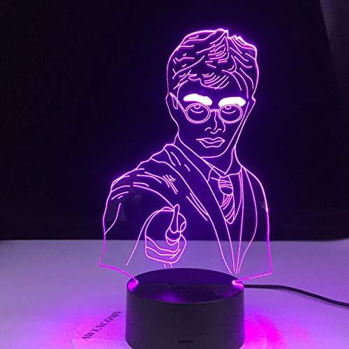 Luz de noche LED 3D ilusión noche luz lámpara de mesa decoración del hogar niños película pareja regalo