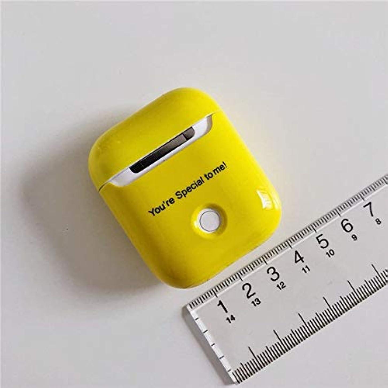 高層ビル振る舞う何でも8HAOWENJU ケース、シリコンワイヤレスBluetoothヘッドセット、Airpods 2充電ボックス、かわいいオールインクルーシブクリエイティブパーソナリティストリートファッション (Color : Yellow)