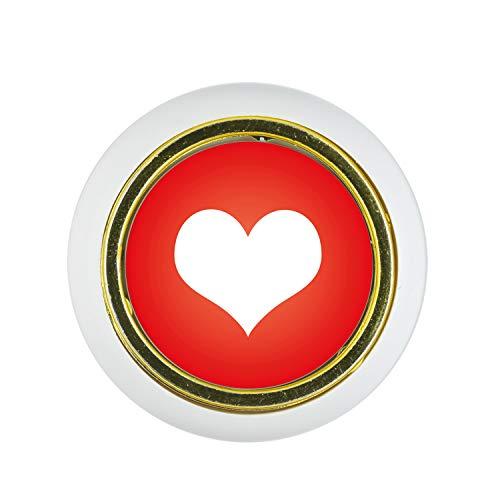 Möbelknopf Kunststoff Klein & Elegant KST06439W Weiss Herz Motiv - Kleine Universal Möbelknöpfe für Schrank, Schublade, Kommode, Tür, Küche, Bad, Haushalt Kinder Kinderzimmer