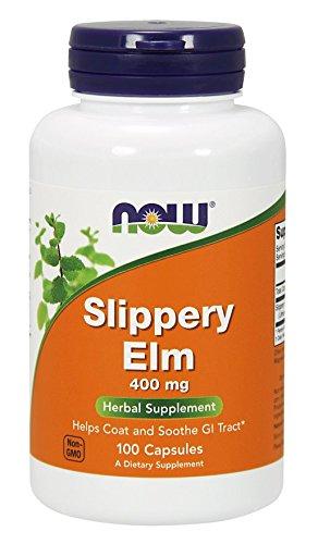 Now Foods, Slippery Elm ( Rotulme ), 400 mg, 100 Weichkapseln, sojafrei, glutenfrei