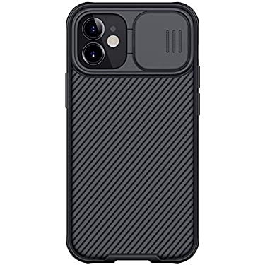 """Nillkin Case for Apple iPhone 12 Mini (5.4"""" Inch) CamShield Pro Camera Close & Open Double Layered Protection TPU + PC Black Color"""