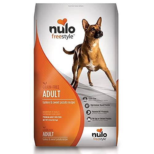 Nulo Grain Free Dog Food: All Natural Adult Dry Pet Food for Large and Small Breed Dogs (Turkey, 24lb)