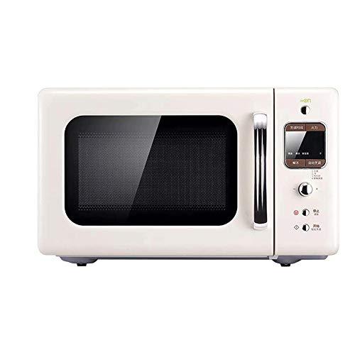JHBNOIUKJS 20L Estilo encimera Horno Microondas En el Minuto 60 Timing- Memoria de la Placa giratoria, Modo Eco y el Sonido de Encendido/Apagado, for cocinar al Vapor/Calefacción/ebullición.