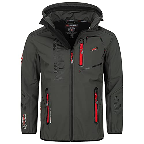 Geographical Norway Vantaa - Chaqueta para hombre (softshell), Gris 02., M