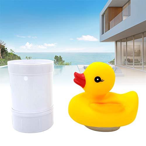 J-ouuo Dispensador de cloro flotante para piscina con forma de pato, clorador...