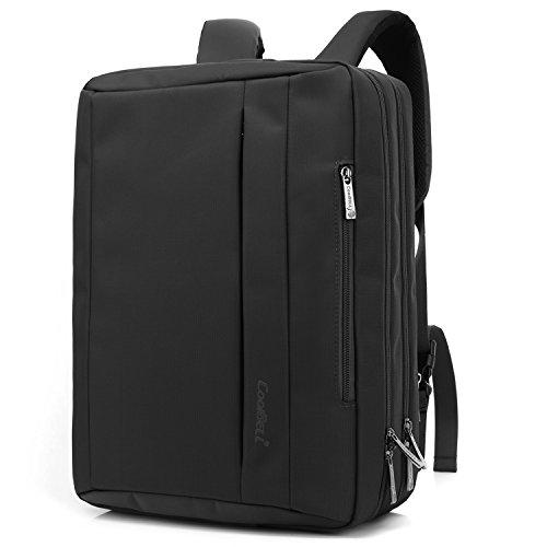 CoolBELL Borsa-Zaino Portatile messener Convertibile, con Tessuto Oxford e Tracolla per Computer Portatile MacBook Tablet da 17,3 Pollici (Nero)