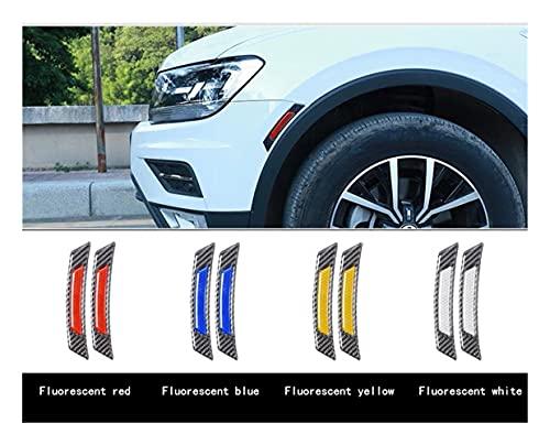 LPL Pegatinas de Coche de la Rueda de la Puerta del Coche Pegatinas Auto Reflectante para BMW Volkswagen Toyota Ford Mazda Audi Decoración del Cuerpo Luminoso (Color : 2PCS Carbon Blue)