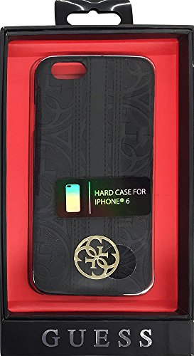 Guess Heritage Collection-Cover Rigida per iPhone 6 Plus/6S, Colore: Nero