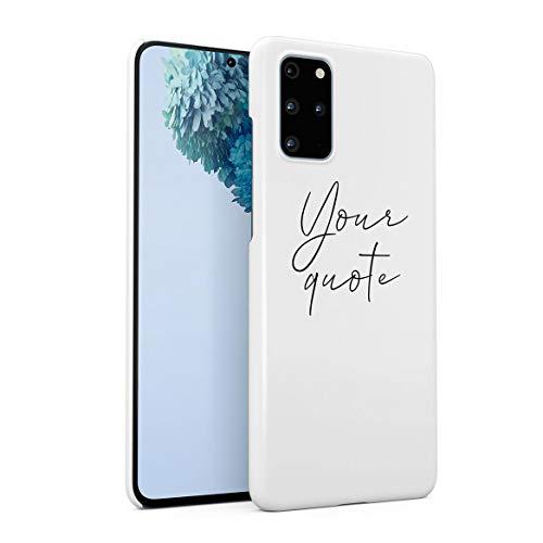 Personalizzato Custodia in Plastica Rigida Per Samsung Galaxy S20 Plus Custom Quote Name Surname Initials Letter Customized Simple Minimalistic Iniziali Personalizzate Frasi Cover Protettiva