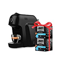 bialetti macchina caffè espresso smart per capsule in alluminio sistema bialetti il caffè d'italia, black + 32 capsule omaggio