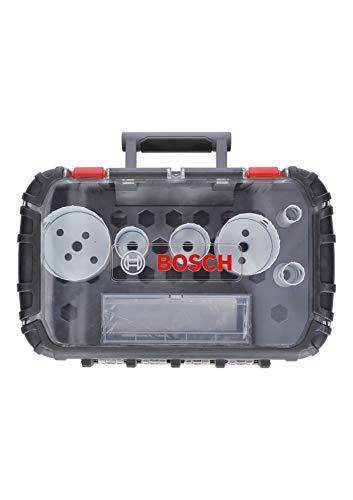 Bosch Professional 9 tlg. Lochsäge Progressor for Wood & Metal Set (für Elektriker, Zubehör Bohrmaschine)