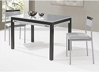 SHIITO Mesa de Cocina Fija 100x60 cm con cubertero y Tapa de ...