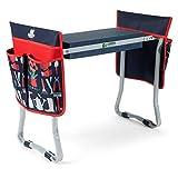 Foldable Garden Stool Kneeler with Two Tool Pouches - Premium...