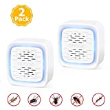 Ultrasonic Pest Repeller - 2 Pack Electronic and Ultrasound Pest Repellents, Plug in Indoor Pest Control for Insects, Rodents, Mosquito, Mouse, Cockroaches, Bug, Spider, Ant, Human and Pet Safe
