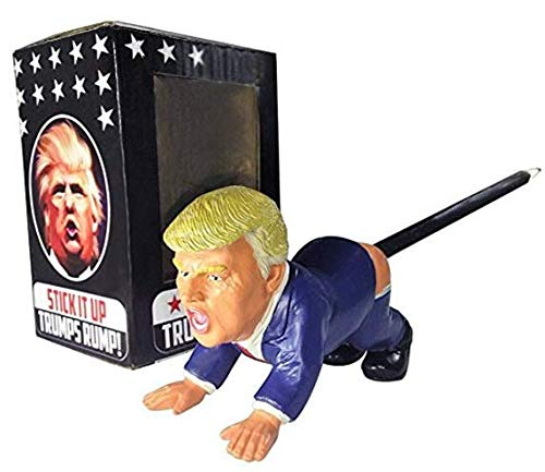 Donald Trump Pen Holder With Gift Box - Funny Gag Gift For Hillary & Obama Fans - Great Addition To The Donald Trump Toilet Paper. Will Make Democrats Smile.