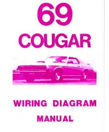 mercury cougar literature amazon com 1968 cougar wiring harness diagram