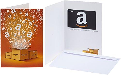 Amazon.de Geschenkkarte in Grußkarte - 10 EUR (Alle Anlässe)