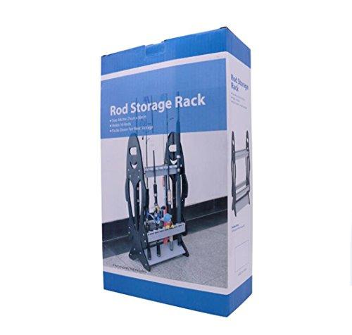 ロッドスタンド釣り竿ロッドホルダー組立式16本立てプラスチック