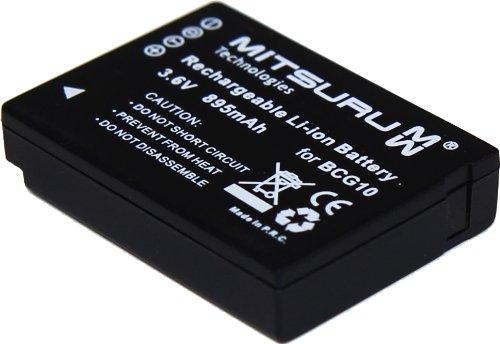 Mitsuru® 895mAh Akku Ersatz für DMW BCG10E BCG10-E Akku Batterie, passend zu Panasonic Lumix DMC-TZ22 TZ-22 DMCTZ22 DMC-TZ18 TZ-18 DMC-ZX1 FMC-ZX1 DMC-ZX3.