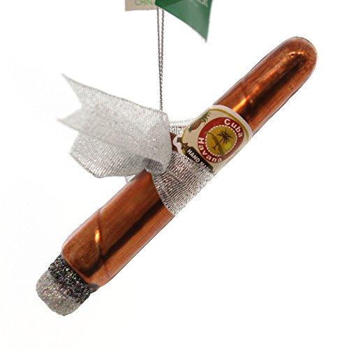 Kurt Adler Noble Gems Cigar with Bow Glass Glass Cuba Havanna Smoke Nb0055