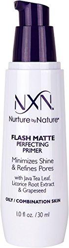 NxN Flash Matte Pore Refining Primer Transforms Skin Into Perfect Canvas Natural Formula for Oily/Combination Skin, 1 Fl Oz