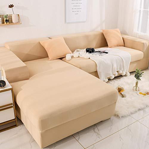 Fundas de sofá de Esquina,Juego de sofás universales de Cuatro Estaciones Todo incluido-A-07_90 * 140cm,Cubre Sofa Universal Tejido de Poliéster
