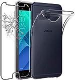 kompatibel fü Asus Zenfone 4 Selfie PRO (ZD552KL) Z01MD Z01MDA 5.5 Hülle Cover Hülle Gel Silikon Gummi TPU weich + Leder Folie Kratzfest Transparent